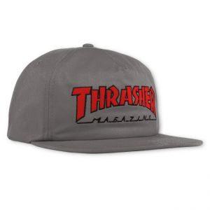 Thrasher Logo Grey/Red Snapback Hat