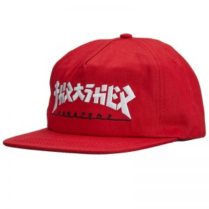 Thrasher Godzilla Red Snapback Hat