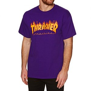 Thrasher Flame Logo T-Shirt Purple