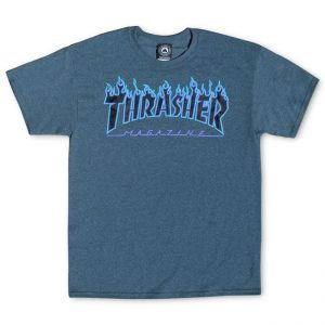 Thrasher Flame Logo T-Shirt Dark Heather