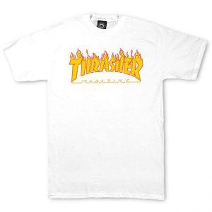 Thrasher Flame Logo T-Shirt White