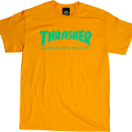 Thrasher Flame Logo T-Shirt Gold
