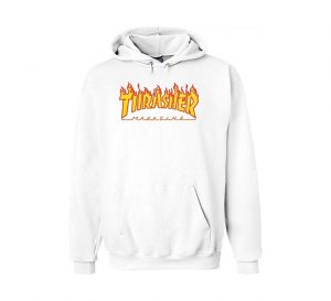 Thrasher Flame Hood White