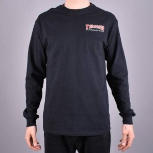 Thrasher Embroidered Outlined Long Sleeve